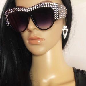 Accessories - Oversized vintage sale bling sunglasses